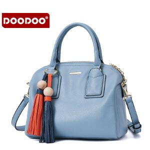 DOODOO 女士包包新款2017女包手提单肩包女款大包包简约时尚斜挎流苏包 D6099 【支持礼品卡】