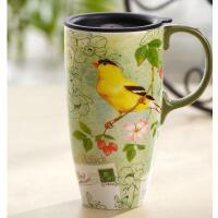 【当当自营】Evergreen爱屋格林马克杯 创意水杯子带盖大容量咖啡杯车载陶瓷杯