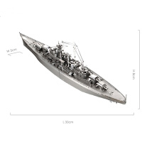 3d立体金属拼图俾斯麦号战列舰合金成人模型拼装 益智玩具