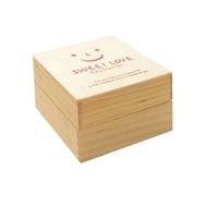韩国文具 可爱木质印章 表情章子 恋の微笑木盒印章(一个装)
