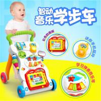 婴儿学步车手推车0-2岁儿童宝宝多功能带音乐可调速助步车玩具