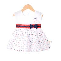 童泰新款婴儿衣服女宝宝外出无袖连衣裙连身裙夏季裙子