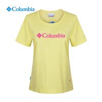 【领卷满400减100】Columbia哥伦比亚户外女款速干透气经典圆领短袖T恤PL2514