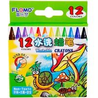 当当自营FLOMO 富乐梦 绘画工具 儿童玩具 12色-可水洗蜡笔 10-0812