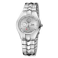 艾奇(EYKI)韩国精致防水表 三眼表盘手表 简约商务情侣表 男女手表