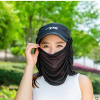 时尚休闲女帽子遮阳帽户外骑车防晒帽防紫外线电动车遮脸太阳帽可折叠