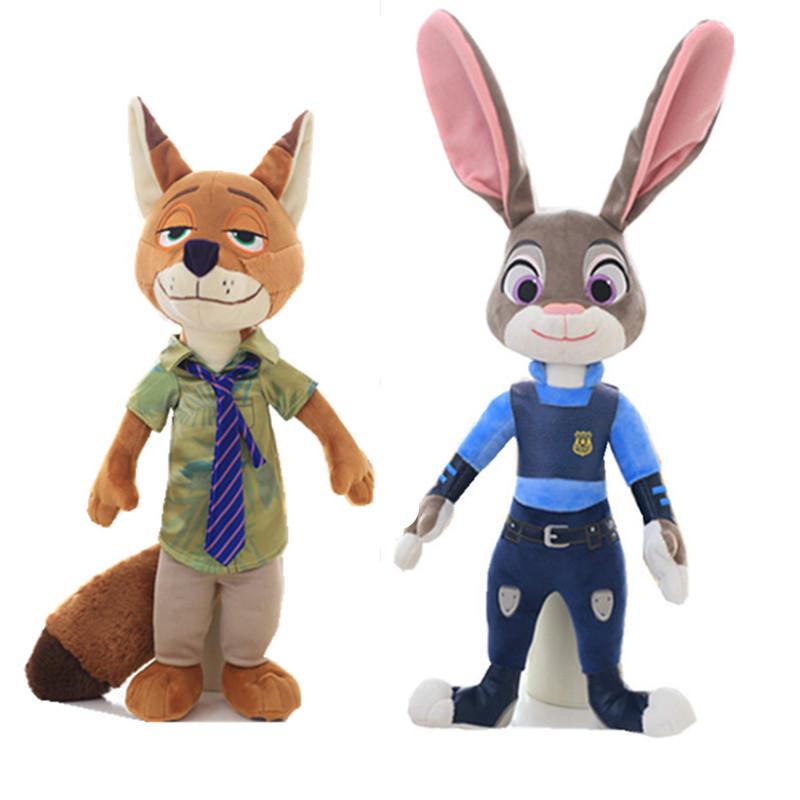 正版疯狂动物城公仔大号毛绒玩具兔子朱迪狐狸尼克布