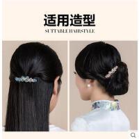 中年人女士带钻蝴蝶发夹顶夹韩国可调节边夹弹簧夹马尾夹头饰品发卡