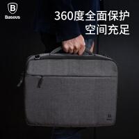 倍思苹果air笔记本13/14/15寸男女防震单肩手提电脑包时尚韩版pro