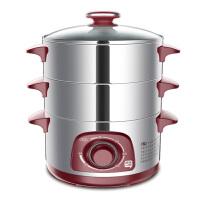 快乐一叮DZG-26J1家用电蒸锅不锈钢多功能电蒸笼三层大容量蒸菜锅