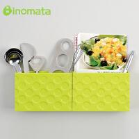 日本进口磁铁吸盘厨房收纳盒 冰箱收纳盒 杂物收纳桶 文具整理盒