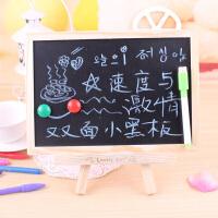 挂式留言板 支架式两用磁性小黑板小白板双面板桌面画板