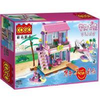 COGO积高14515 小白龙拼装益智积木梦幻女孩系列之沙滩别墅