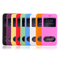 坚达 手机保护套 手机套外壳 双开窗简约手机皮套带支架 适用4.7寸 /iphone6 免运费