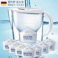 碧然德(Brita)净水器净水壶滤水壶滤水杯(Marella3.5L套装) 1壶7芯 白色