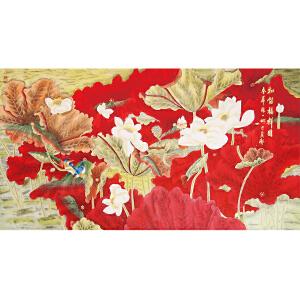 《和谐福祥图》书画家协会一级美术师,中国女工笔画协会委员张一娜女士精品国画