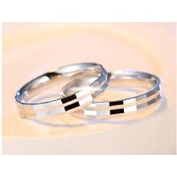 日韩版潮人学生女对戒子 925银情侣戒指男一对刻字男士婚戒食指环