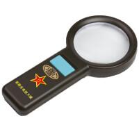 货到付款 JHOPT户外八一 军用带灯手持放大镜 10颗LED高亮度灯 阅读看珠宝玉石鉴定