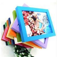 木质礼品相框 平板实木相框 照片墙 8寸挂墙蓝色