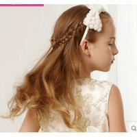 高弹加耐用女童珍珠蝴蝶节发箍头花清新甜美百搭 儿童表演发饰头饰品