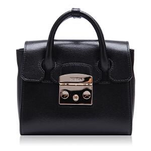 FURLA芙拉牛皮材质锁扣设计女士手提单肩两用包 支持礼品卡支付