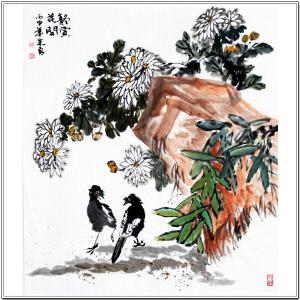 安徽省美术家协会会员 朱勇 《静赏花开》