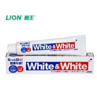 2支装 狮王牙膏亮白日本原装white 口气清爽成人防蛀除异味去渍牙膏 2支装