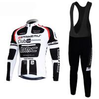 环法BMC Racing竞技车队骑行服背带短袖长袖套装自行车服 11白短袖吊带套装
