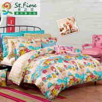 富安娜家纺 富安娜家纺 圣之花儿童套件 学生宿舍 全棉四件套卡通床单被套魔法学校 1.2米床