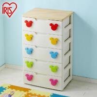 爱丽思IRIS 环保树脂塑料儿童米奇卡通抽屉式整理柜收纳柜MHG-555