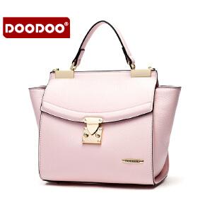 DOODOO 包包女包2017新款时尚日韩翅膀包单肩包休闲白带斜挎手提女式小包 D6002 【支持礼品卡】