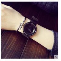 男女表石英手表 简约创意概念个性 转盘韩国时尚潮 流运动中学生防水