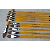 凡高狼毫水粉笔/水粉画笔/油画笔6支装