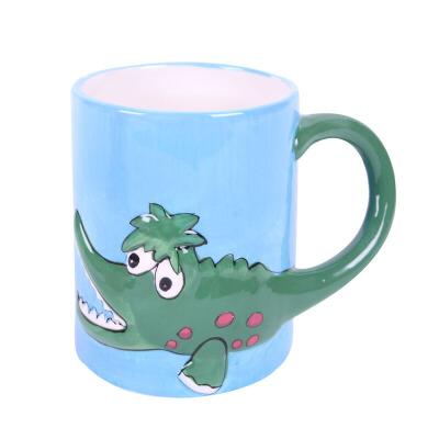 大贸商 马克杯 动物图案陶瓷杯 鳄鱼杯子水杯 可爱卡通 hc00133