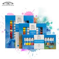 温莎牛顿水彩画颜料12色18色24色手绘颜料墙绘颜料水彩画套装颜料