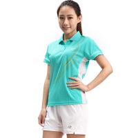 满百包邮  正品佛雷斯/FLEX 羽毛球服羽毛球短袖T恤女士浅绿 QW9036B-1