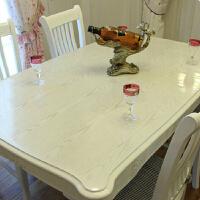 桌布PVC透明 防水印台布餐桌垫 pvc免洗餐厅桌布水晶板 光面透明3.0毫米厚 100cm宽*1米