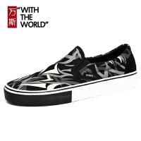 万斯低帮时尚男鞋韩版迷彩帆布鞋经典款滑板鞋学生休闲ws089