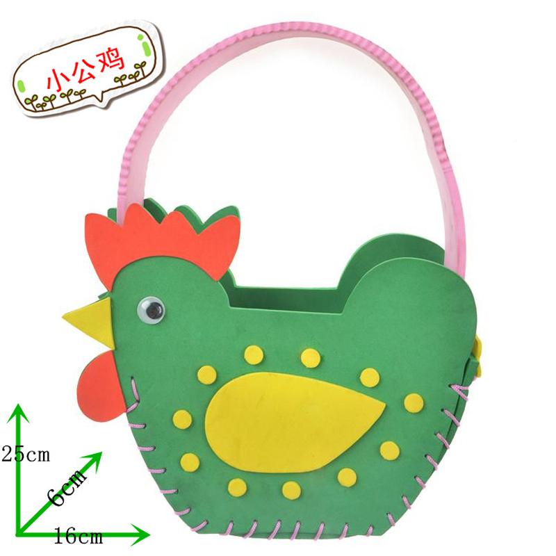 孩派eva儿童手工制作材料 diy手工材料幼儿 k1-10包包 手工包_动物