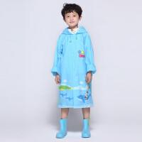 【支持礼品卡支付】儿童雨衣男童雨披时尚加厚宝宝小孩小学生雨衣带书包位雨披