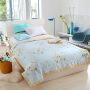 [当当自营]维众家纺 全棉床上用品可机洗棉花空调被夏凉被单人幽梦花语150*200cm
