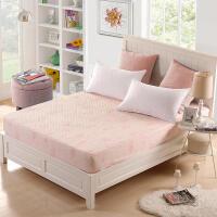 优雅100纯色床笠单件床罩床垫套1.5m1.8床套床单席梦思床垫保护套