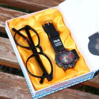 儿童手表 男孩激光表 名侦探柯南 基德 玩具手表眼镜套装,柯南激光手表眼镜套!