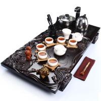 尚帝 整套功夫茶具 浮雕双龙-陶瓷功夫茶具茶盘套装XMBH2014-005A1
