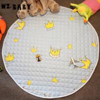 [当当自营]wz.baby便携可水洗收纳圆形地垫皇冠小号直径1.1m
