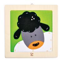 德国HapeE5104刺绣布贴画-绵羊儿童创意早教布贴画