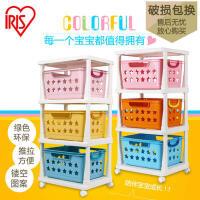 爱丽思IRIS 儿童环保树脂彩色多层玩具收纳筐 整理架KBR-030