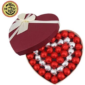 【包邮】徐福记 棒棒糖(红盖白底)心形礼盒 生日礼盒 情人节礼物
