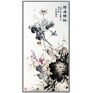世界华人书画院副院长 一级美术师 魏大��《荷塘清趣》