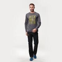 狼爪(Jack Wolfskin)男士2016秋季透气户外休闲运动速干T恤1804801